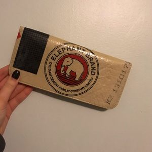 Handbags - Upcycled wallet made from concrete bag